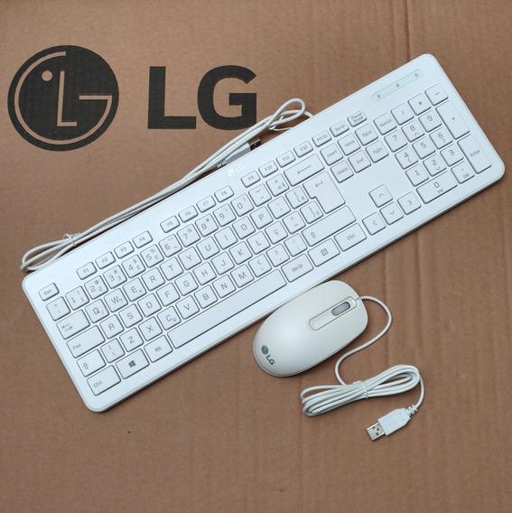 Teclado E Mouse Lg All In One 22v240 Com Fio