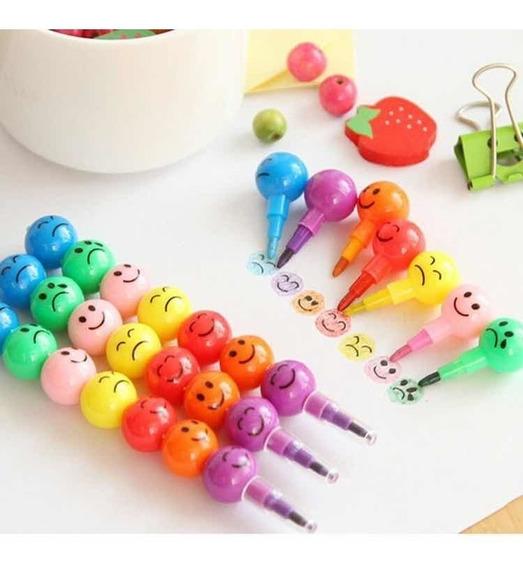 Crayones Smile Emoji Colores Pack X 30 Souvenir Ohmyshop