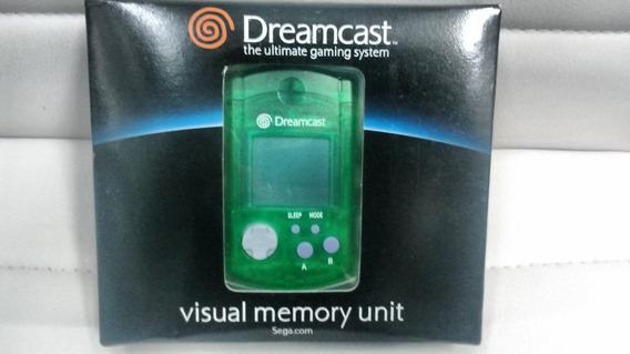 Visual Memory Unit Crystal Green Dreamcast