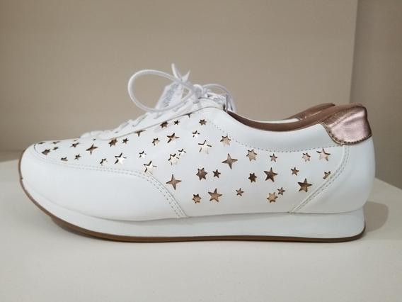 Zapatilla Ferraro Baleares Cuero Blanco Zapato Mujer