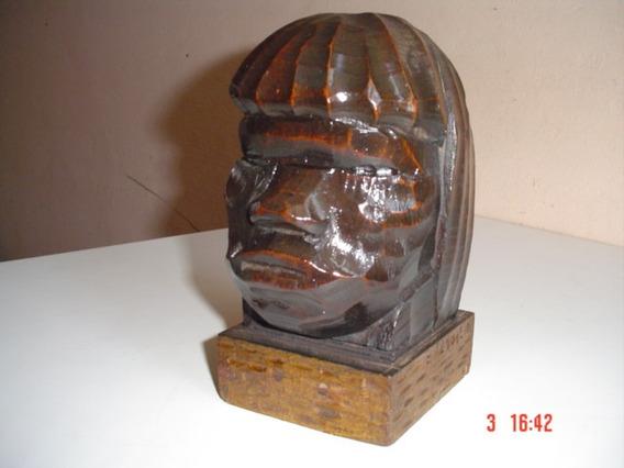 Antiga - Escultura Do Indio ( Amazonas ), Ano 1950 Assinada.