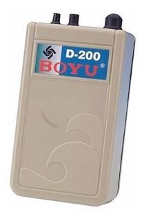 Bomba Compressora De Ar A Pilha D-200 Boyu Para Aquário