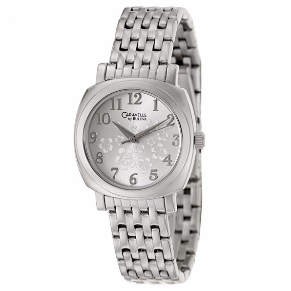 Relógio Caravelle By Bulova 43l144 Ladies Classic Silvertone