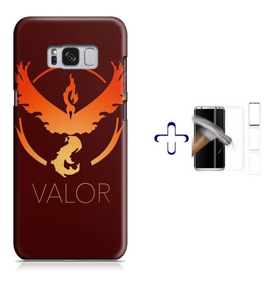 Kit Capa Galaxy S8+ Pokemon Team Valor+pel.vidro (bd01)