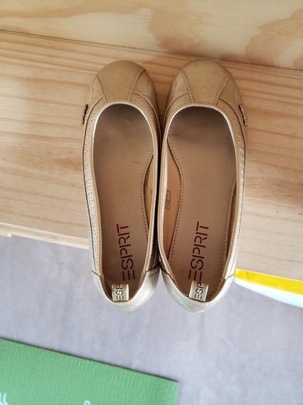 Zapatos Mocasín Goma Mujer Cuero Premium Marca Esprit