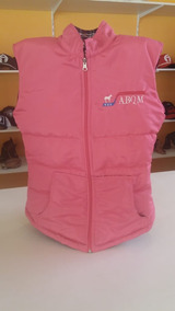 Colete Country Abqm Feminino Dupla Face Rosa Cowgirl Mulher