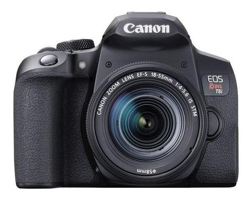 Canon EOS Rebel T8i DSLR color  negro