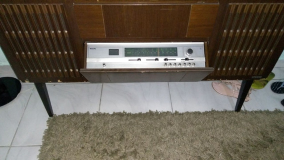 Radio Vitrola Antiga Philips Radio Funcionando Stereo Leia