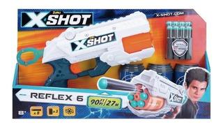 Pistola Lanza Dardos X-shot Revolver Excel Reflex Tk-6