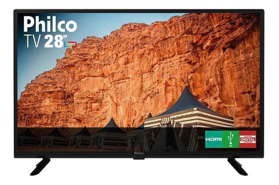 Tv Philco 28 Polegadas Led Hd Ptv28g50d Com Conversor Preta