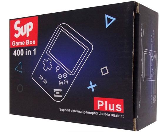 Console Sup Game Box - 400 Jogos - Preto Até 6 Horas De Jogo