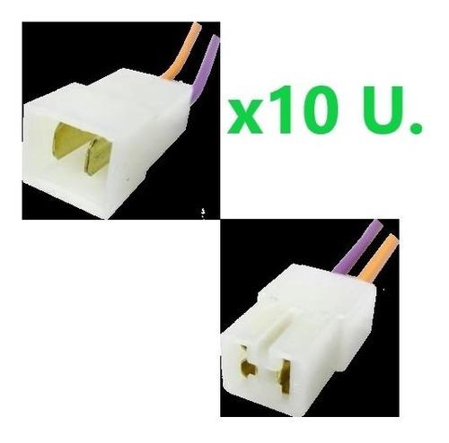 Conector Empalme De 2 Vías, Macho Y Hembra, X 10 Unidades
