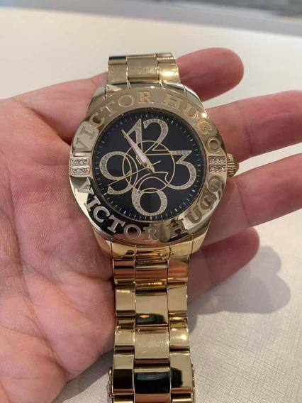 Relógio Victor Hugo Dourado
