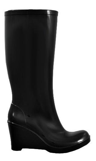 Bota Lluvia Stile 705 Mujer Taco Caña Alta Negro 35-40