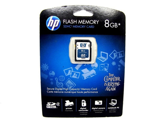 Cartao De Memoria Hp Q6276a 8gb Sdhc Class4 Original