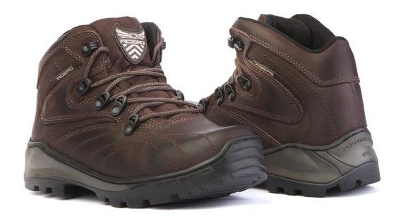 Bota Masculina Adventure Sapato Casual Botina Trilha Couro