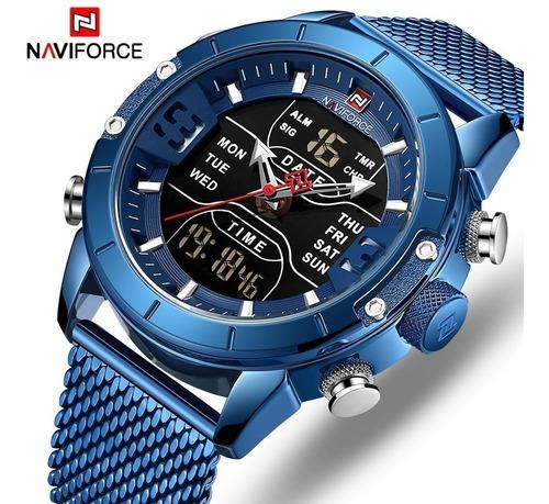 Relógio Masculino Estiloso Aço Inoxidável Luxo