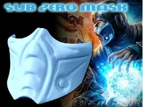 Mascara Carnaval Cosplay Festa Evento Máscara Sub Zero - Ful