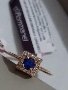Anel De Pedra Azul Rommannel