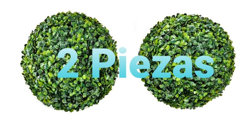Imagen 1 de 3 de 2 Esferas Decorativas De Follaje 18 Cm. De Diámetro