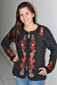 Chompa Suéter Tejido 100% En Lana Alpaca, Regalo Mujer