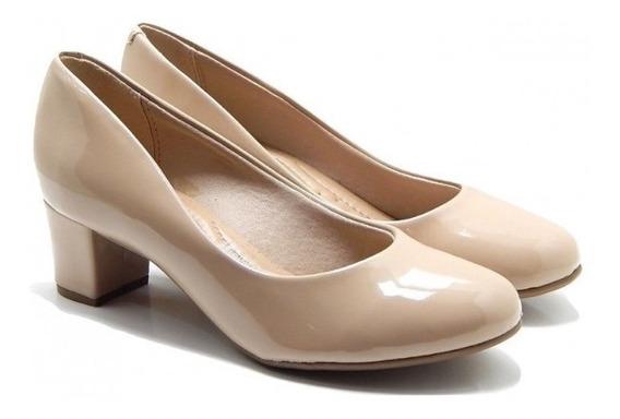 Sapato Salto Medio Verniz Beira Rio 477309