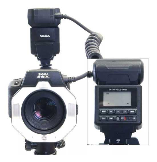 Flash Circular Sigma Em-140 Dg Para Canon