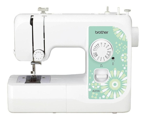 Máquina de coser recta Brother JS2135 portable blanca 220V - 240V
