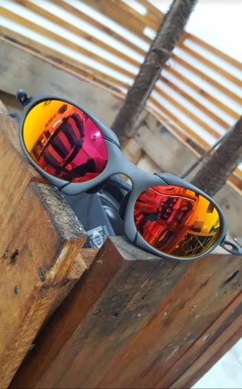 Oculos Oakley Romeo 1 2 Metal Polarizado Cinza Vermelho 12x
