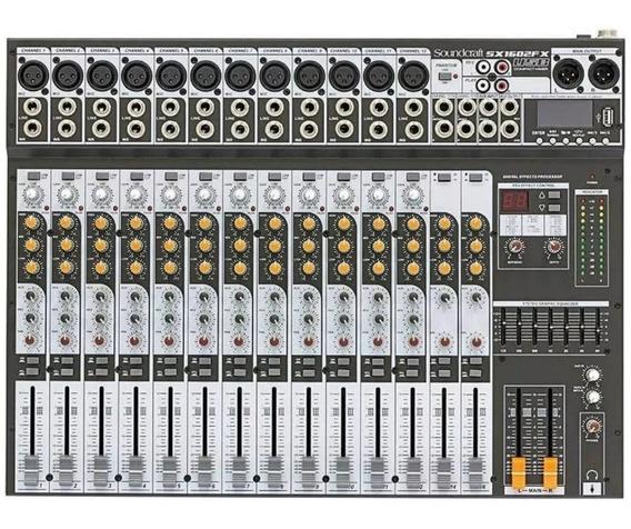 Mesa De Som Soundcraft Sx 1602fx Usb Sx-1602