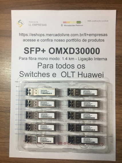 Huawei Omxd30000 Compatible 10gbase-sr Sfp+ 850nm 300m