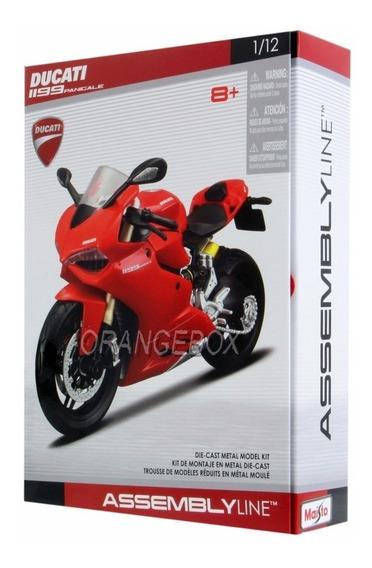 Kit Para Montar Ducati 1199 Panigali Maisto 1:12 Vermelho