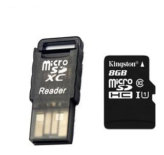 Carto Kingston Classe 10 8gb Micro Sd / Tf Com Leitor De C