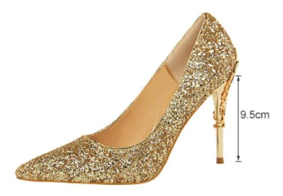 Sapatos Feminino Salto Alto Casamento Scarpin Plataforma 055