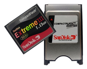 Kit Adaptador Compact Flash Pcmcia + Cf 1gb + Nfe Fanuc
