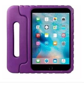 Capa Protetora Infantil Emborrachada iPad Mini 1 2 3 4 -roxo