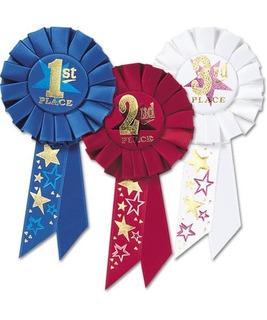 Beistle Rap04 Paquete De 3ª, 2ª, 3ª, Place Award Rosettes
