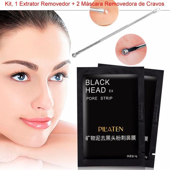 Sache Pilaten Black Head Mascara Preta Remove Cravo Kit 3 Un