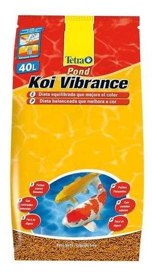Ração Premium Para Carpas Tetra Pond Koi Vibrance Sticks 6kg