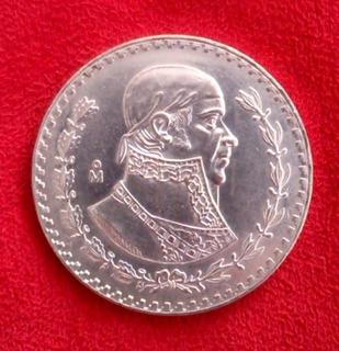 1 Moneda 1 Peso De Plata Antiguo Morelos De Coleccion