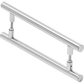 Puxador De Porta Redondo Para Vidro E Madeira 50cm