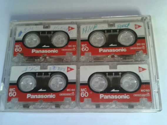 Cinta Panasonic Microcassette Mc-60 Pack Combo 4und Grabador