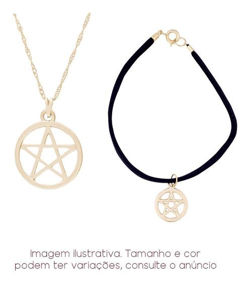 Colar Pentagrama + Pulseira Camurça | Sunshine
