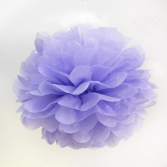 Pompones De Papel De Seda - Flores De 15 Cms Cumpleaños