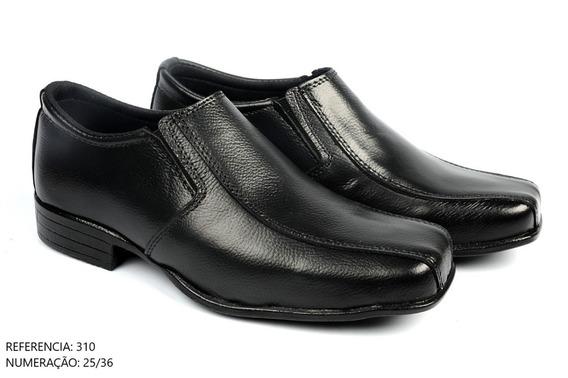 Sapato Social Infantil Em Couro Lindo Preto Meninos