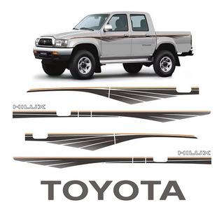 Faixa Hilux Adesivo Lateral 1992/04 + Faixa Traseira Toyota