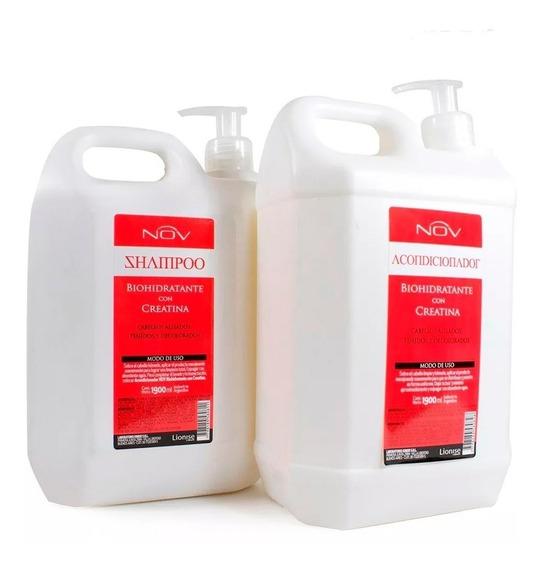 Shampoo + Acondicionador Biohidratante Con Creatina Nov