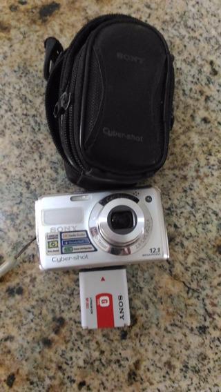 Máquina Fotográfica Sony Cyberr-shot Com A Lente Travada.