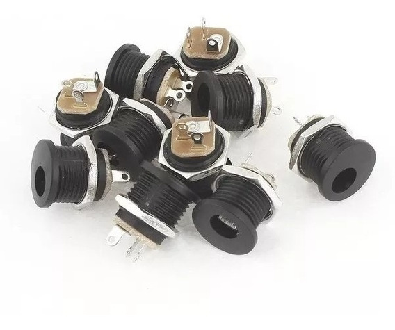Conector Plug Jack P4 Femea J4 2.1mm Pedal Pedais 30 Peças