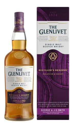 Imagen 1 de 6 de Whisky The Glenlivet Distillers Reserve Triple Cask 1 Litro
